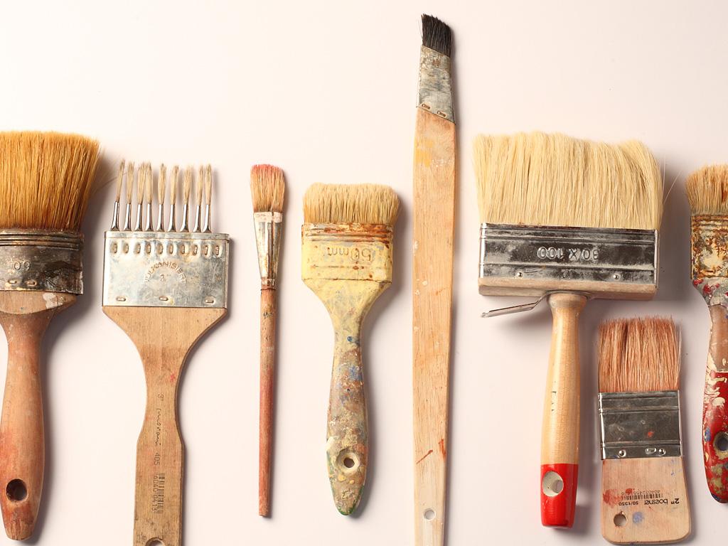 Viele Maltechniken – viele Pinsel