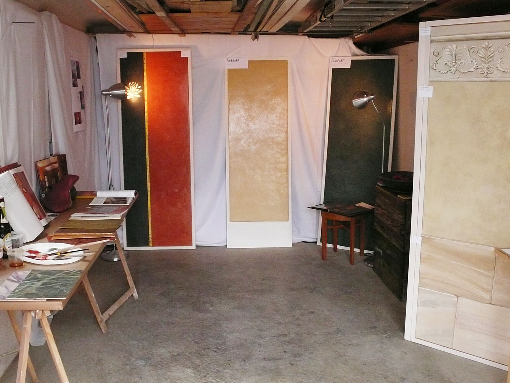 """Blick in den """"Ausstellungs-Pavillon"""""""