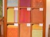 Musterplatten zu verschiedenen Putztechniken
